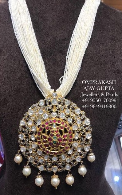 Multi Layers Pearls Haram with Side Motifs