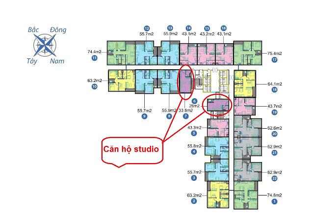 Căn hộ studio tòa Park 2 Vincity Ocean Park Gia Lâm