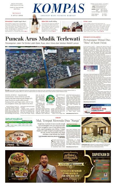 Kompas Edisi Minggu 3 Juli 2016