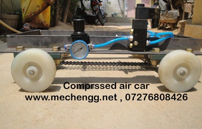 prototype of air operated mini car mechanical project 2017