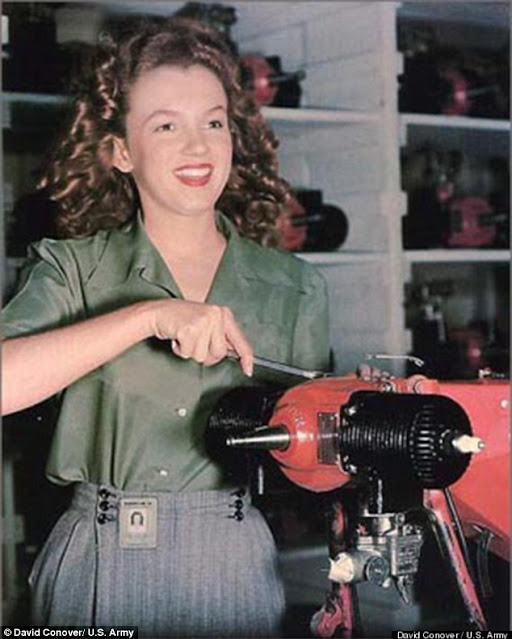 Norma Jean Baker, 1944, women color photos worldwartwo.filminspector.com