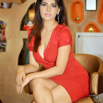 Anjana Hot Pics in Red Outfit Photoshoot