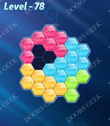 Block! Hexa Puzzle [5 Mania] Level 78 Solution, Cheats, Walkthrough for android, iphone, ipad, ipod