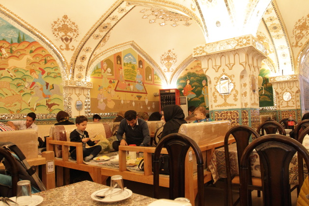 A persian style lunch at Isfahan, Iran
