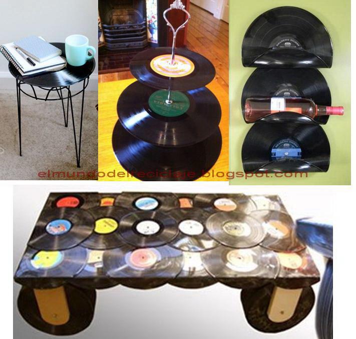 El mundo del reciclaje recicla discos de vinilo - Decoracion con discos de vinilo ...