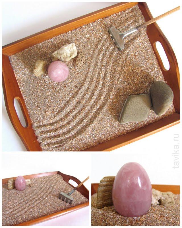 японский садик из камней и песка