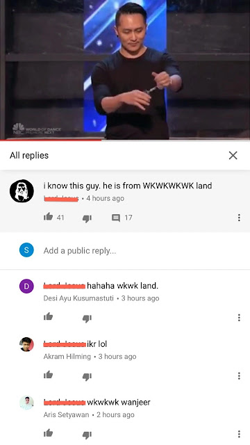 Salah Satu Komentar Wkwkwk Land