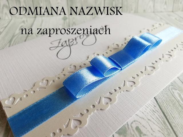 Pracownia Jolanta Wajda Odmina Nazwisk Na Zaproszeniach
