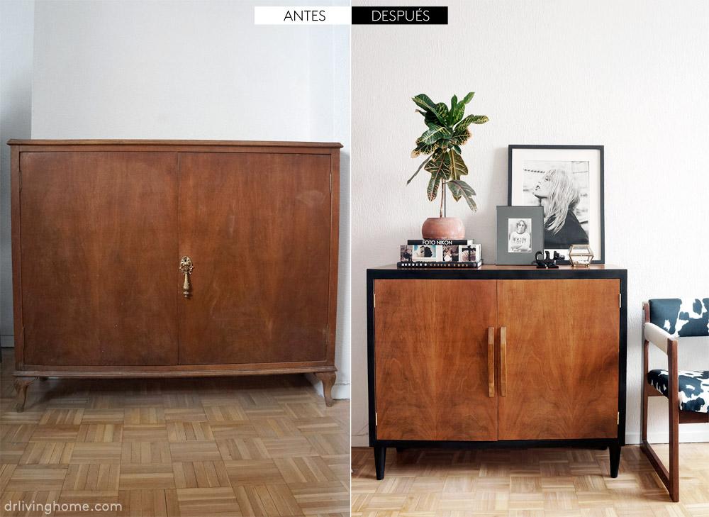 Mueble reciclado. Una cómoda mid century