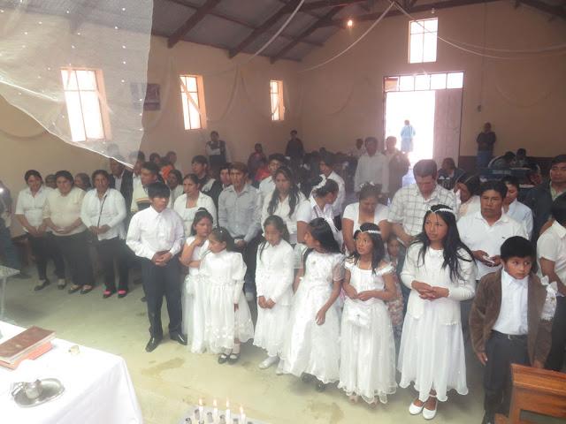 Bereit zur Erstkommunion und Firmung in der Mine Candeleira