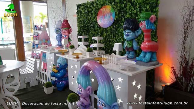 Decoração Trolls para festa de aniversário infantil