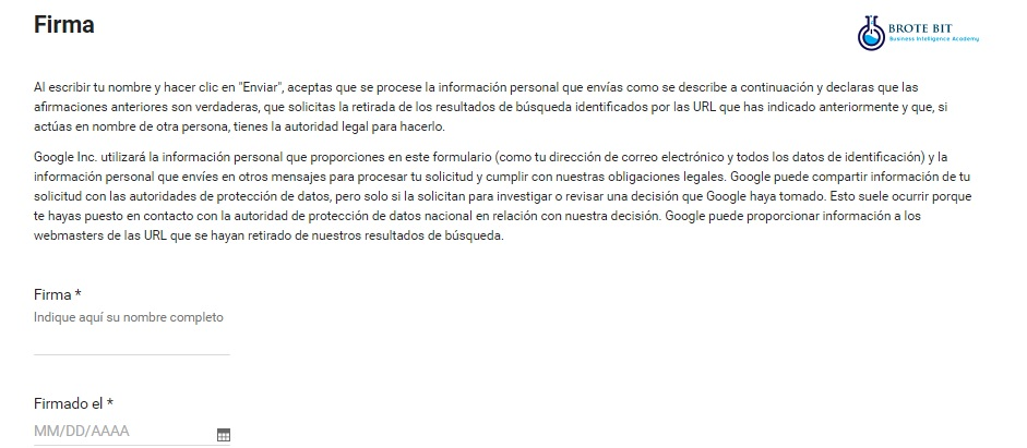 Eliminar mis datos de Google