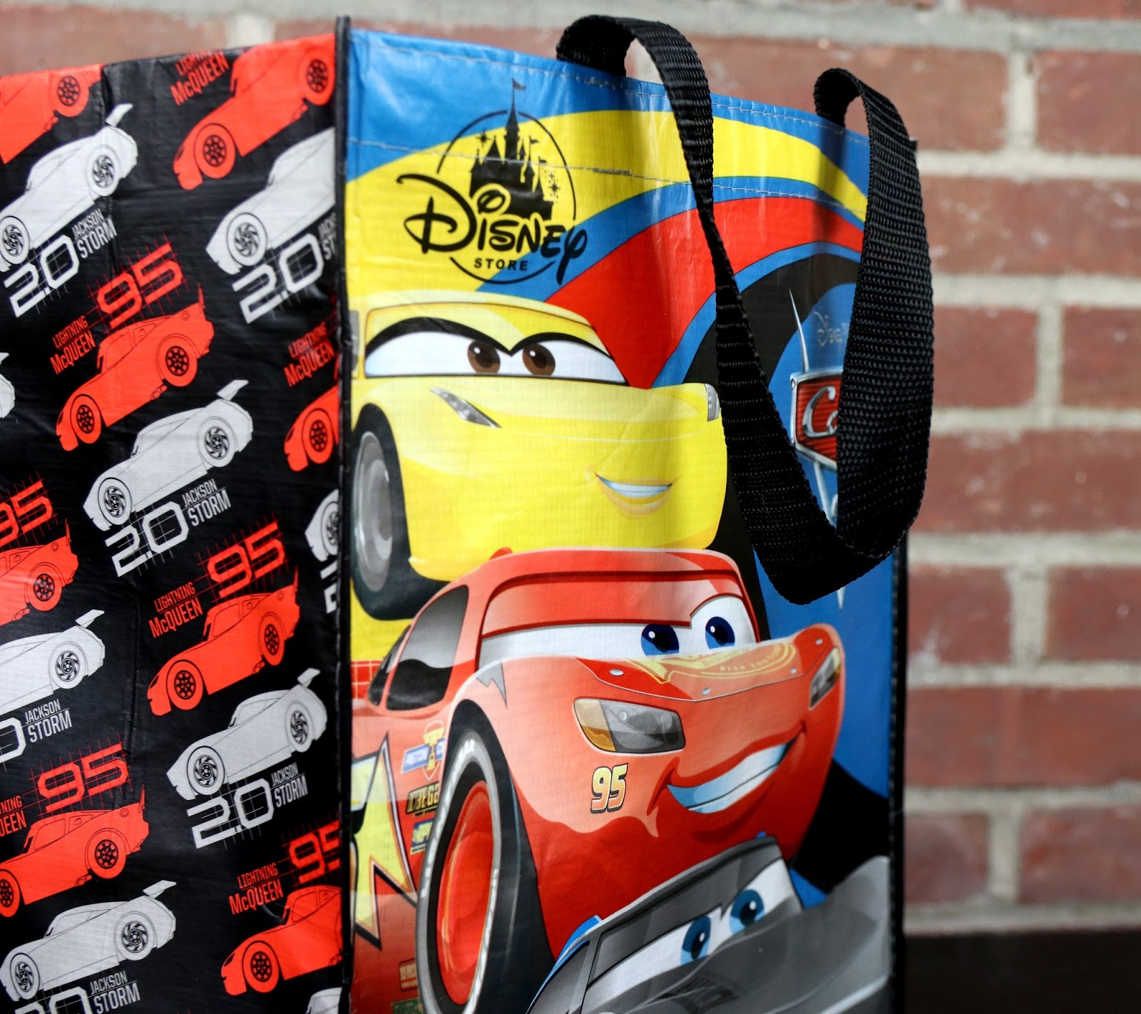 cars 3 disney store resusable tote gift bag