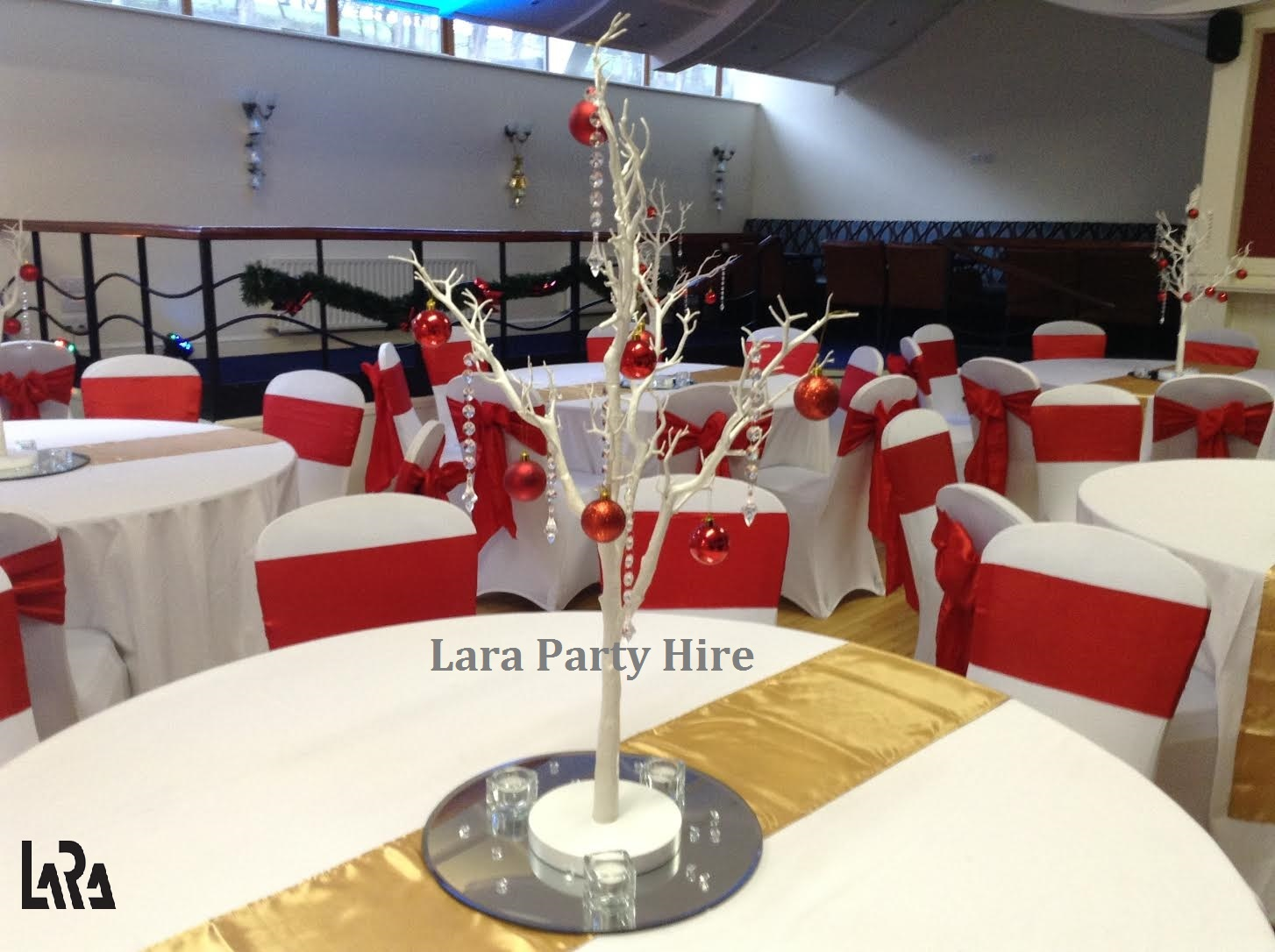 christmas chair covers ireland swing manufacturers lara party hire first insurance dinner