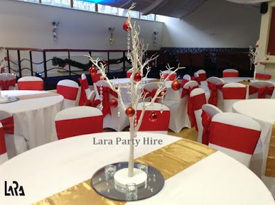Christmas Chair Covers Ireland Swivel Kitchen Lara Party Hire First Insurance Dinner Garda Boat Club