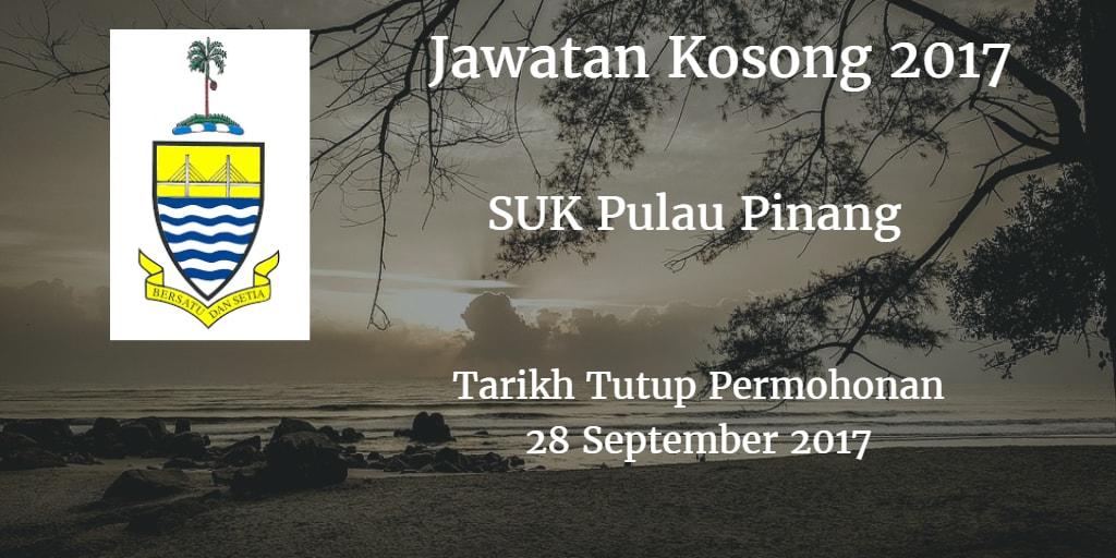 Jawatan Kosong SUK Pulau Pinang 28 September 2017