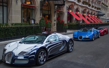 Wallpaper: Cars Bugatti and Ferrari