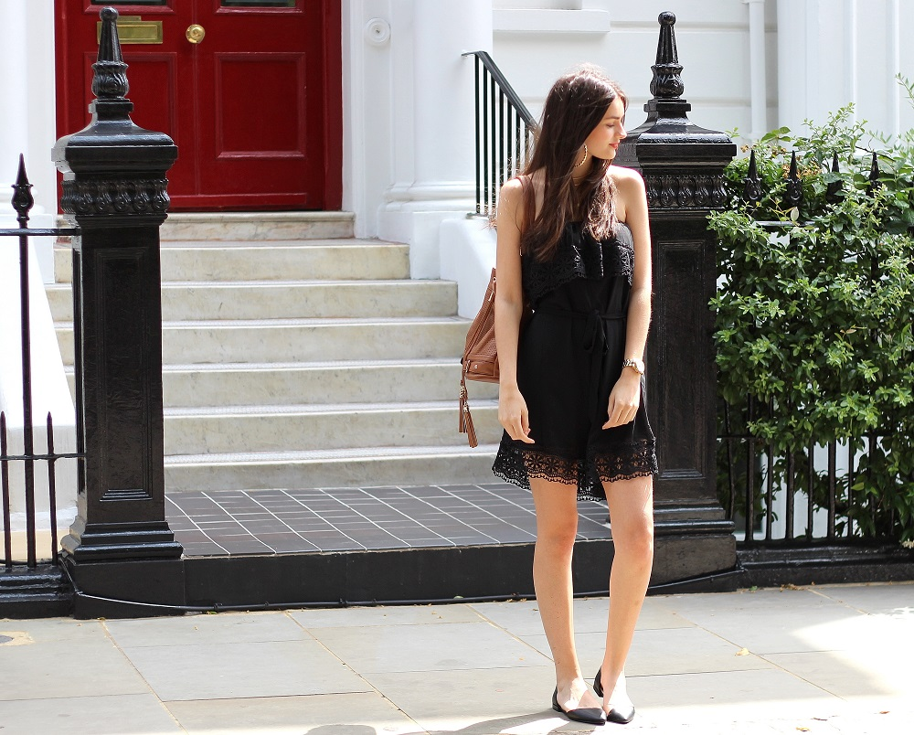 peexo fashion blogger wearing bandeau dress