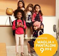 Logo H&M: maglia +pantaloni bimbi a meno di 10€ e non solo !