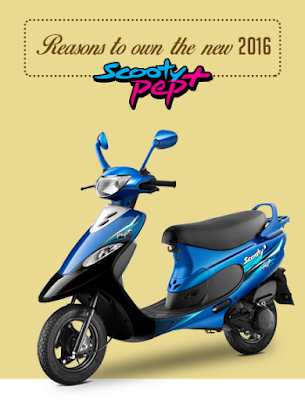 2016 TVS Scooty Pep Plus Hd Wallpaper