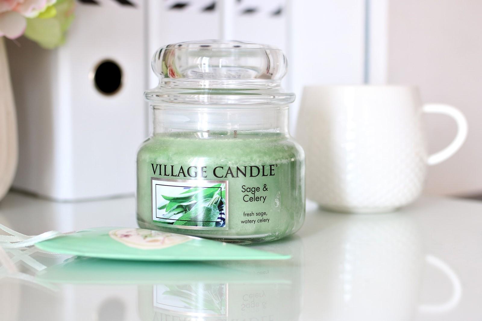 Świeca zapachowa Village Candle - Sage and Celery {idealna na sezon wiosenno-letni}