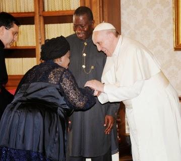 jonathan visit pope francis i