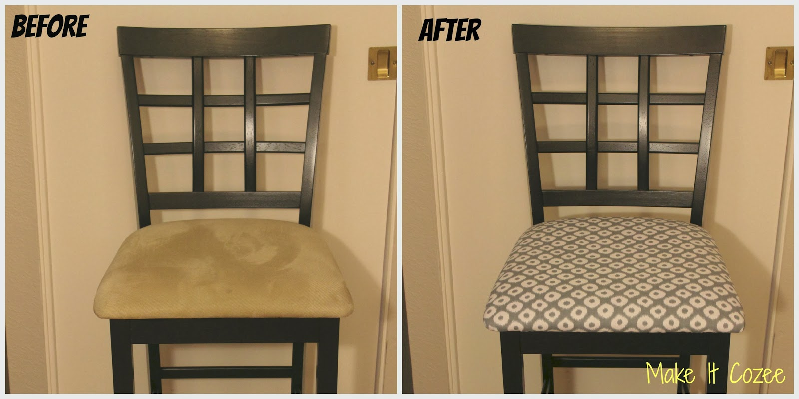 Best Fabric For Reupholstering Dining Room Chairs: Make It Cozee: DIY: Reupholstery Under $10