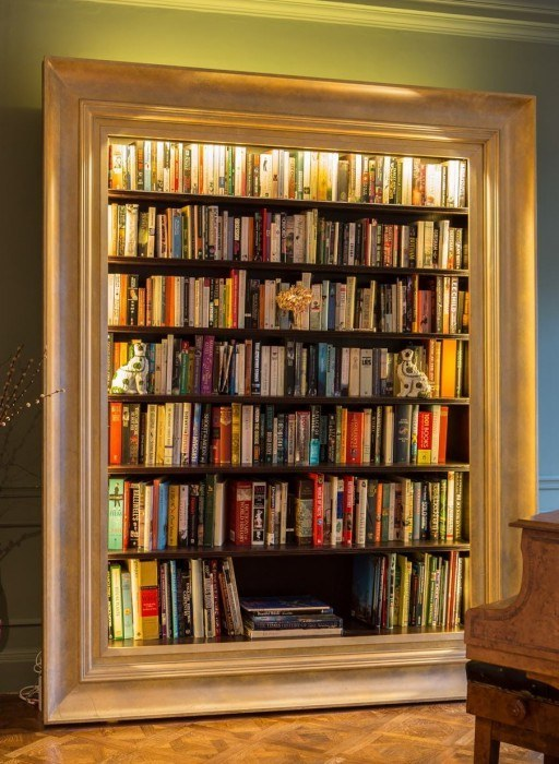 Decorated mantel friday 39 s five favorite ideas to store books for Libreros modernos