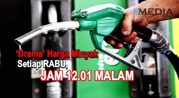 Harga Minyak Petrol & Diesel Diumum Setiap Hari Rabu Seminggu Sekali