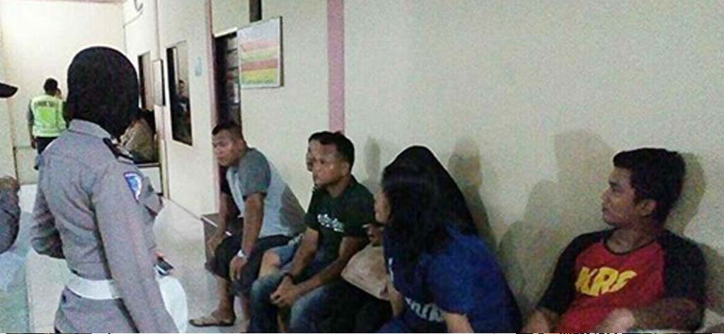 Pasangan selingkuh di Tanjungbalai yang terjaring razia di penginapan.