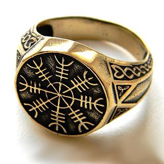 купить кольцо агисхьяльм скандинавские кельтские украшения бронза