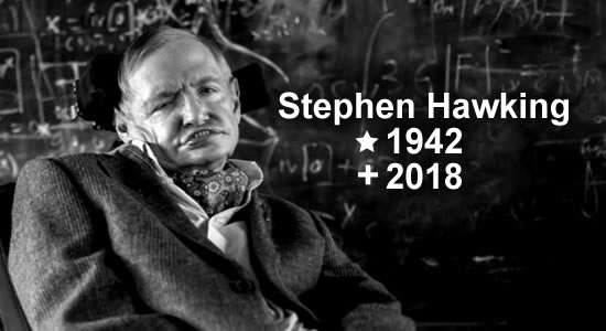 Morre Stephen Hawking ao 76 anos.