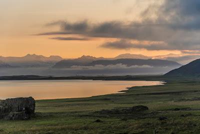 Sunset in Stokksnes, Iceland in November
