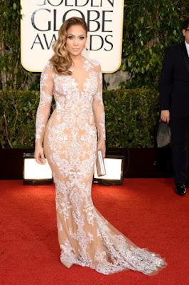 jennifer lopez on the red carpet of the Golden Globe Awards