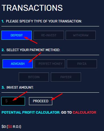 Регистрация в Magic Investments 3