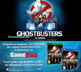 Logo Buono sconto certo per videogame Ghostbusters