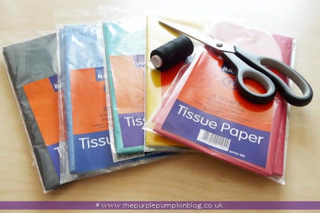 Giant Tissue Paper Rosettes at The Purple Pumpkin Blog