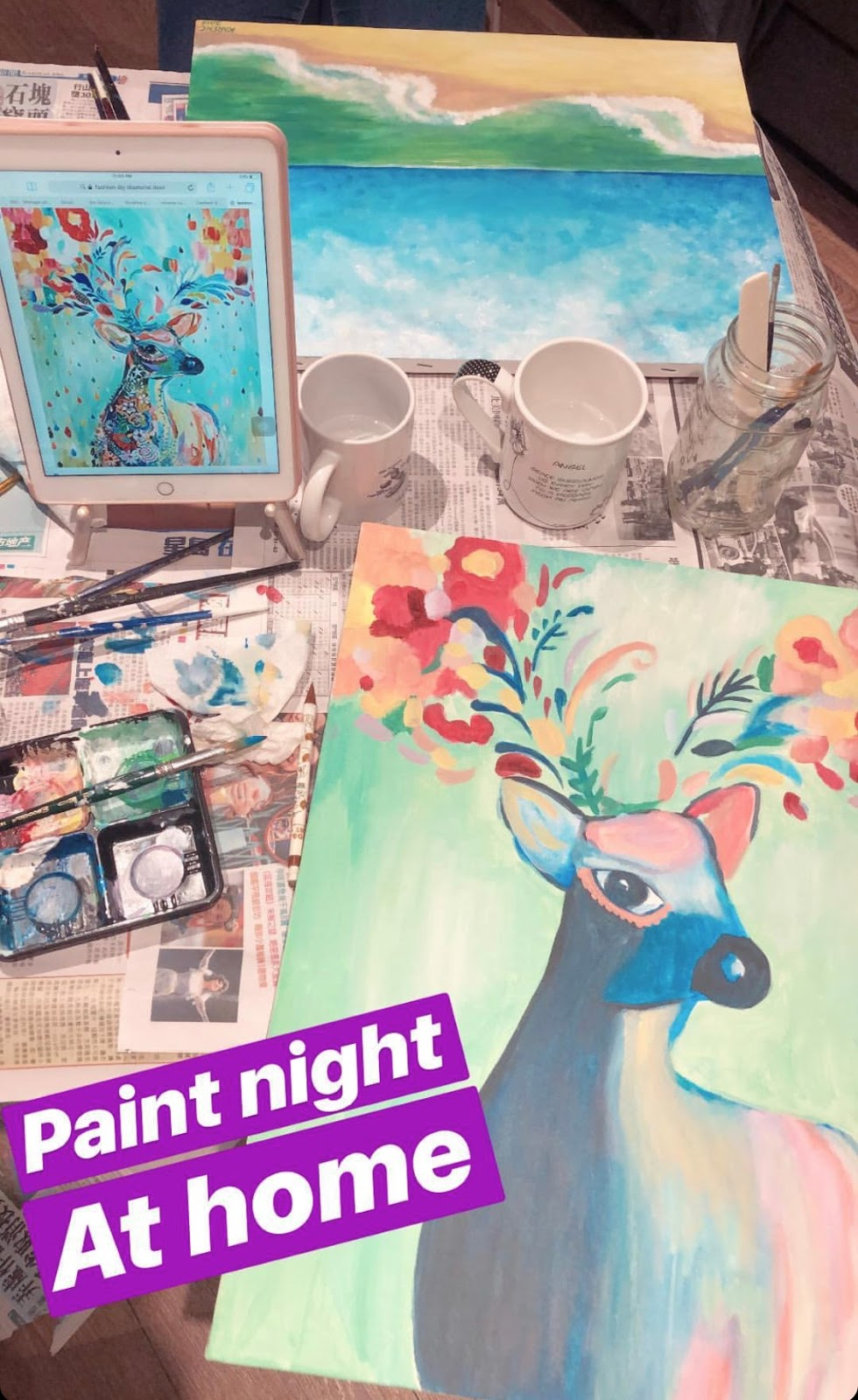 10 Fun Indoor Activities to do with Your BFFs in Winter - Make Your Own Paint Night at Home