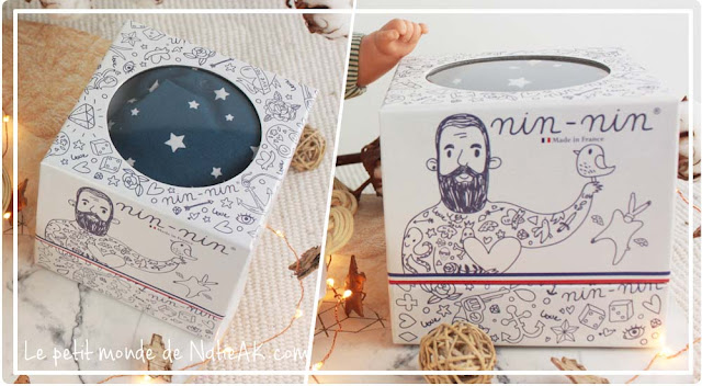 boite doudou Nin-nin, le doudou made in France