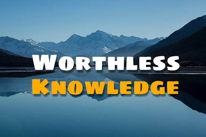 Worthless Knowledge , A Moral Story - Mi Short Stories
