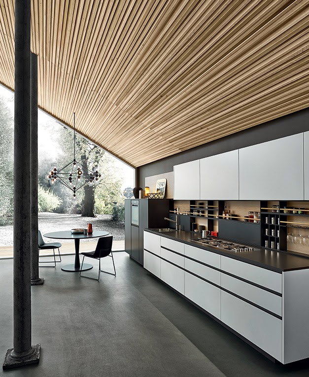 Un ambiente natural y rústico para una cocina contemporánea ...