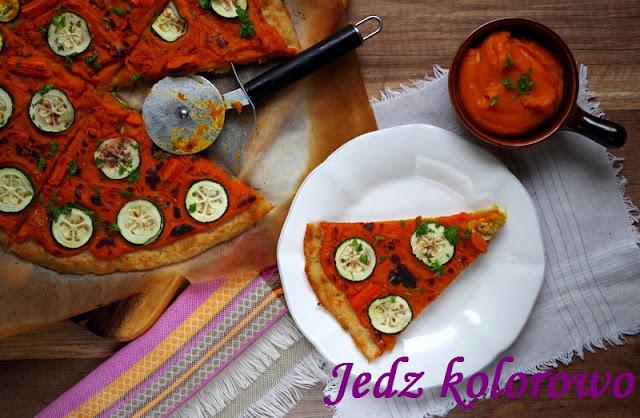 pizza na spodzie z ziemniaków, z dynią, bez sera, bez pomidorów
