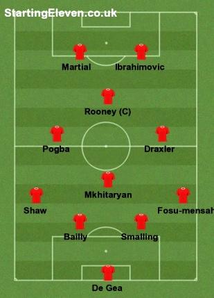 Perkiraan Starting XI Manchester United Musim 2016-2017