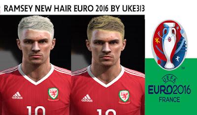 PES 2013 RAMSEY (WALES) NEW HAIR EURO 2016