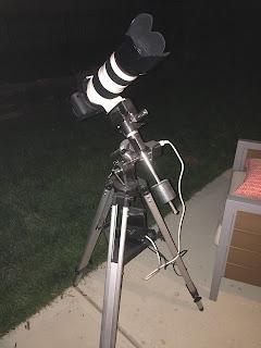 canon 70-200 on telescope mount