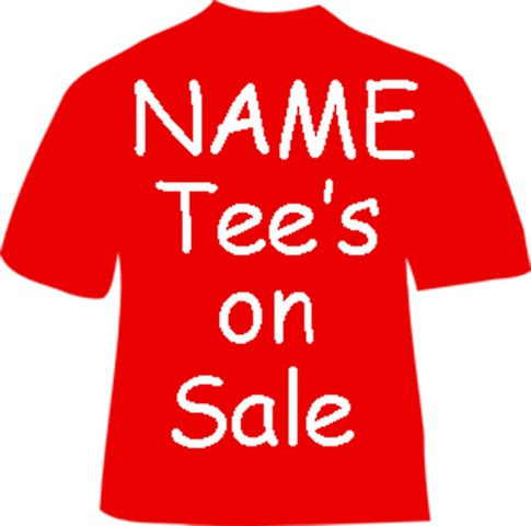 NAME Tee Shirt Sale ends April 1st!