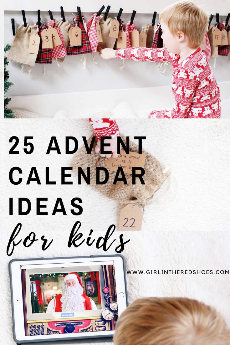 Advent Calendar Ideas Early Years : Advent calendar ideas for kids the girl in red shoes
