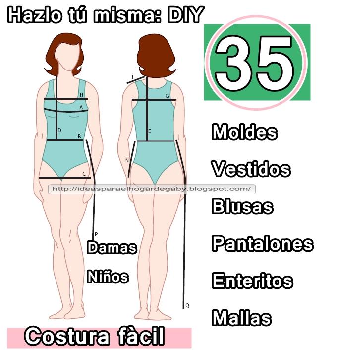 35 Moldes de prendas para coser ~ crochet tanakamadrin