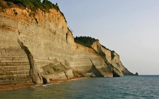 "Rocks at the tavern ""Panorama"". Peroulades. Corfu. Greece"
