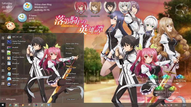 Windows 8.1 Theme Rakudai Kishi no Cavalry by Bashkara